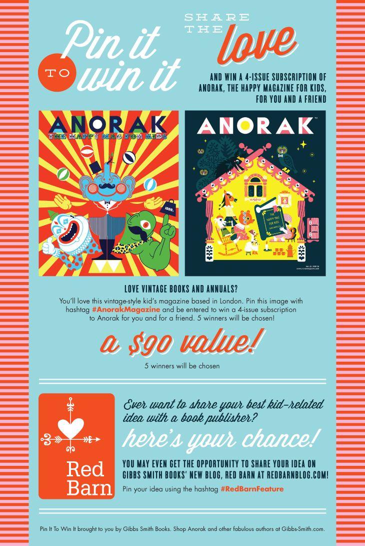 Pin It to Win It: Anorak Magazine!