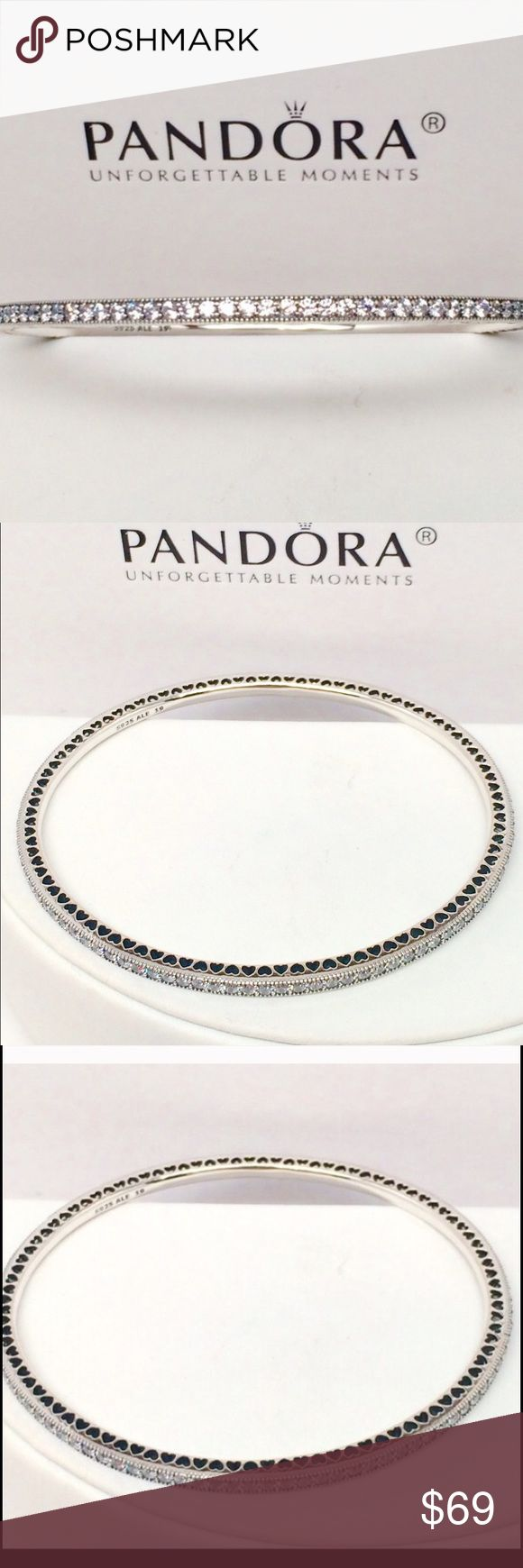 New Pandora Twinkling Bangle All Sizes This is a Brand New Authentic Pandora Bangle. Comes in A Pandora Bangle Box. No Trades. Please. All Hallmarked and properly stamped. If any questions or concerns please drop me a note. Hard Box Sold Separately. Thanks and Happy Shopping. Oh, if you need anything special just let me know and I will do my best to get you what you want. Pandora Jewelry Bracelets