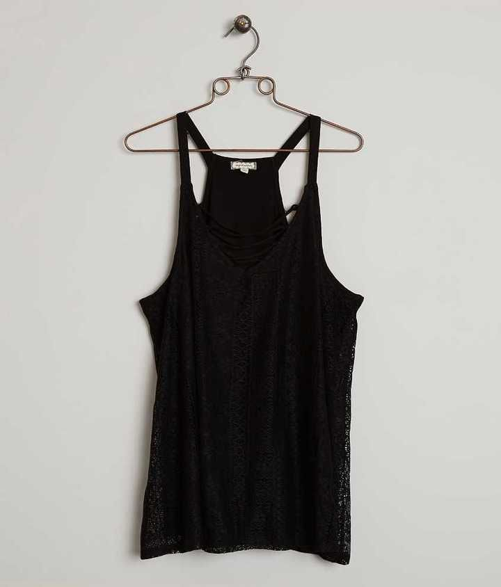 Eyeshadow Lace Tank Top - Plus Size Only