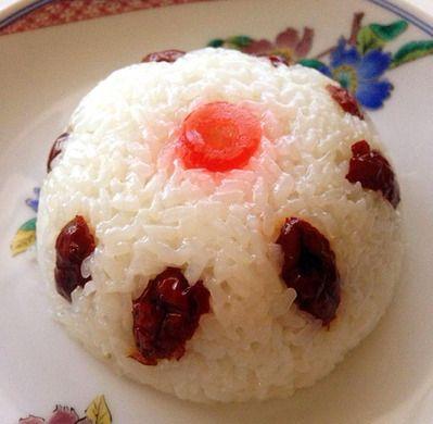 「八宝飯(パーポーファン)」。春節を彩る可愛らしい中華菓子。