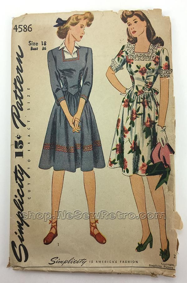 af38102933b441 1940s Dress Vintage Sewing Pattern-pretty 1940s fashions on display #1940s  #1940sfashion #1940sdress #sewingpatttern #vintagedress #fashiondesign