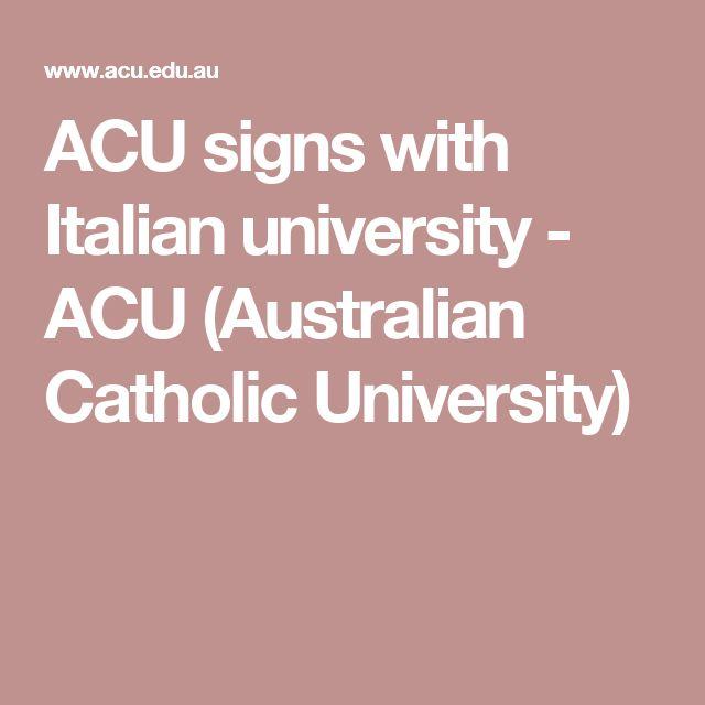 ACU signs with Italian university - ACU (Australian Catholic University)