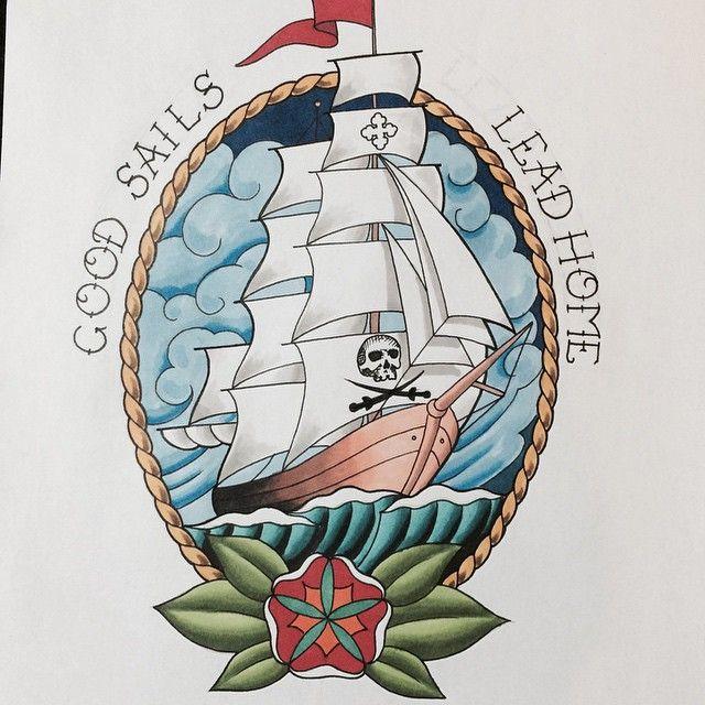 Sins and Needles Tattoo (@sinsandneedlestattoo) on Instagram: #clippership #ship #shiptattoo #color #nyc #newyorkart #newyorkartist #newyorktattoo #brooklynink #brooklynart #brooklynshop #brooklyntattoo #brooklynartist #drawing #art #williamsburg #williamsburgtattoo #williamsburgart #asylum #newyork #brooklyn #tattoo