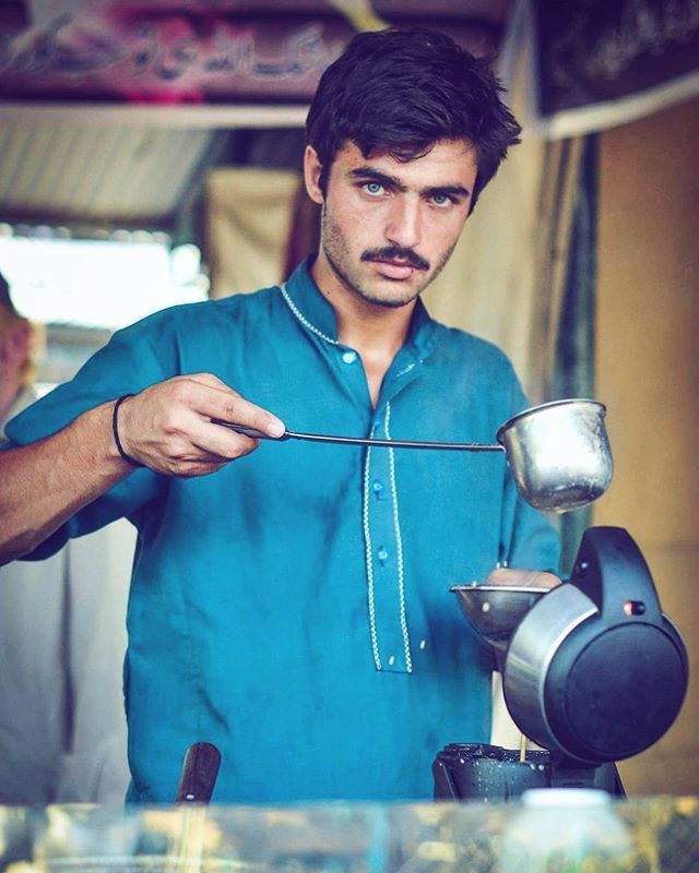 Arshad Khan (Pakistani Persian), Tea Seller of Islamabad (Potrait; Pakistan, Sind) -Jiah Ali (Photographer) #People #Human #Man #Photography