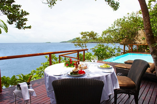 Private Dining at Namale Resort & Spa, an all inclusive adult only resort in Fiji