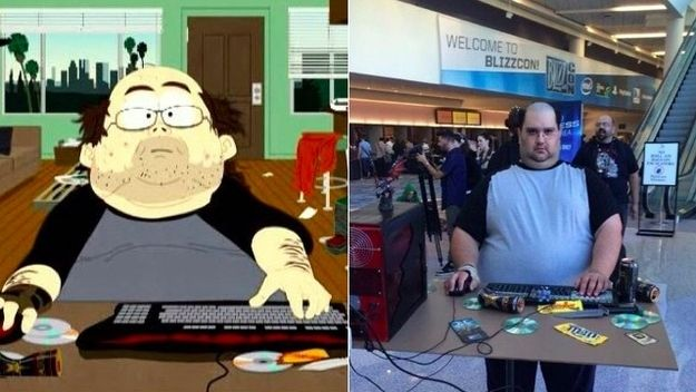 The guy who cosplayed as the World of Warcraft player from South Park :