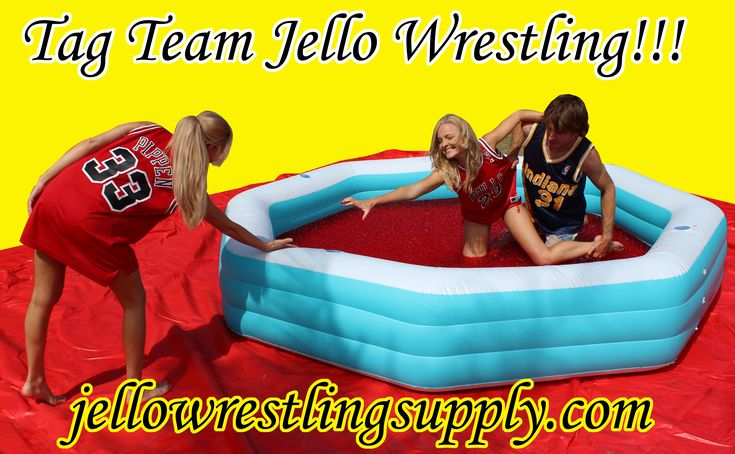 Tag team jello wrestling rules. Hilarious fun. Chicago bulls v indiana pacers