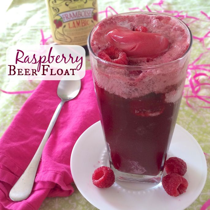 ... make an adult version of the root beer float with lambic fruit beers