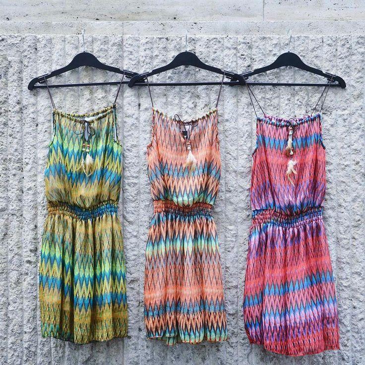 Tribal gems   cozy summer dress colourful szputnyik shopzigzag tribal pattern stripes indian
