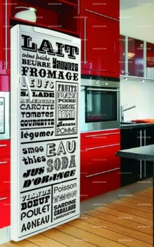 stickers frigo la liste de courses refrigerator funky. Black Bedroom Furniture Sets. Home Design Ideas
