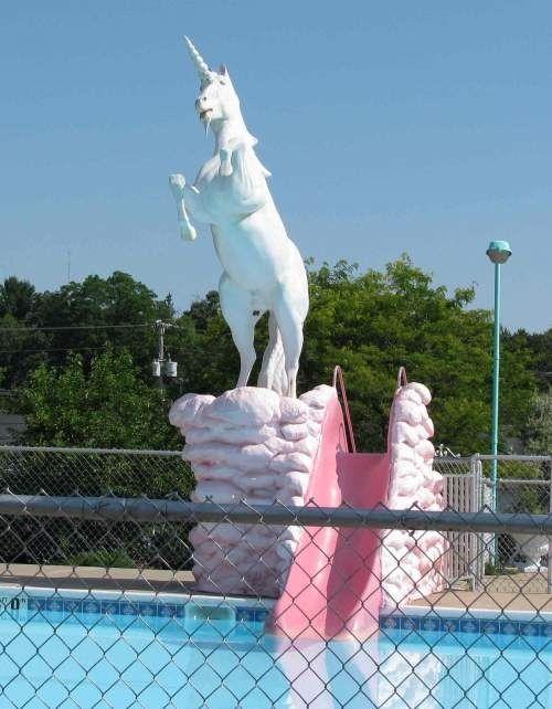 Unicorn Water Slide!