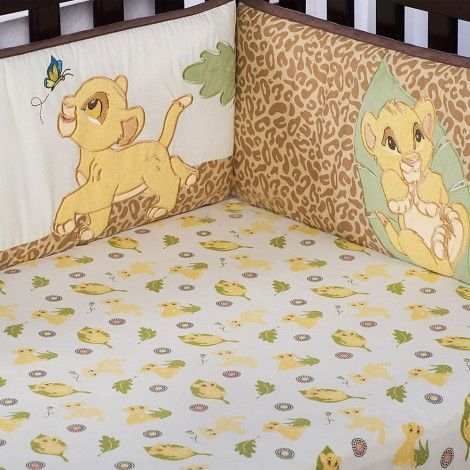 The Lion King 4-Piece Crib Bumper. I want the sheets but not sure about the bumper. I read the bumpers increase risk for SIDS so it's cute but I think I'll pass. But the sheets are a must!