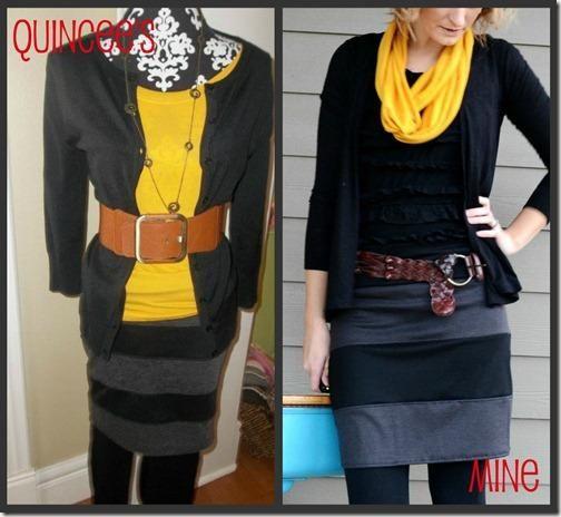 DIY Clothes DIY Refashion DIY Knit Striped Skirt