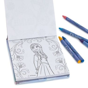 Colouring Book And Crayon Set Featuring Outlines From Disneys Animated Film Frozen