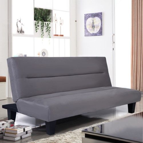 Microfiber Futon Folding Couch bed 6' Sleep Recliner Lounger Grey