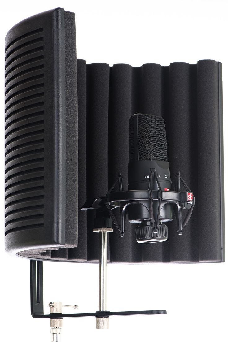 Instant microphone isolation! Perfect for home studio vocal booths, room mic isolation and field recordings. *microphone not included