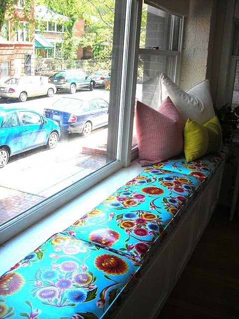 oil cloth window seat