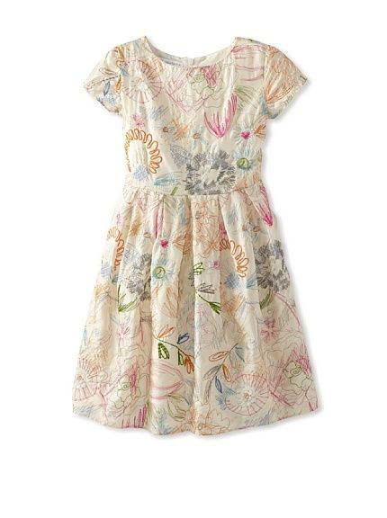 I love the embroidery on this dress!