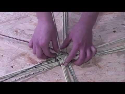 Papierowa wiklina krok po kroku- jak skręcać rurki - YouTube