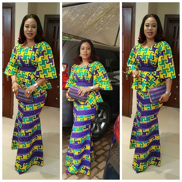 My clients are cute like dat... Lady Tee looks stunning in dis piece #luxuriousfashion #asoebispecial #asoebibellanaija #asoebiafrica #owambestyle #fashionforward #owambeparries #fashionforchurch #ankaralovers #asoebibella #churchyandfly #fashionforchurch #fashionforward #africanfashionbloggers #africanfashionkillers #fashionjunkie9ja