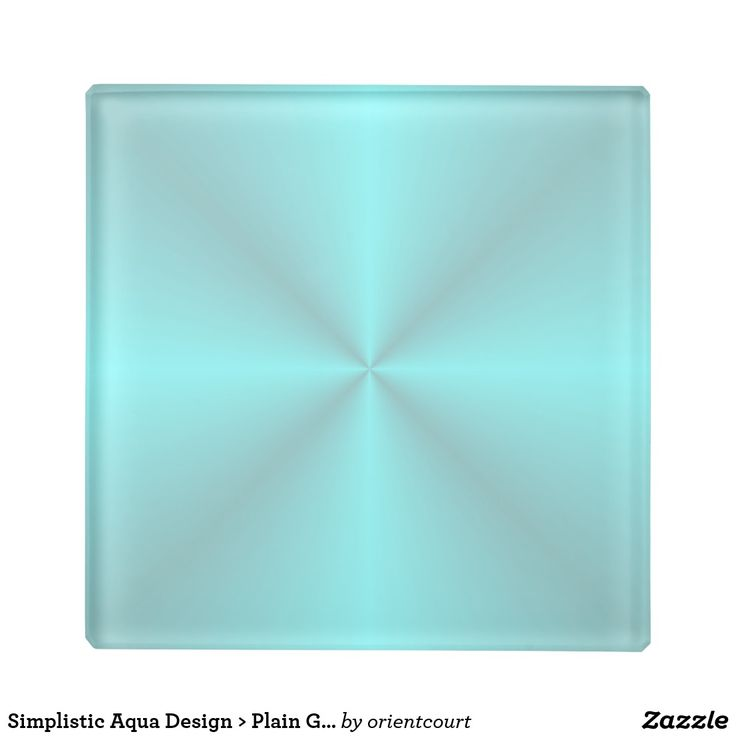 Simplistic Aqua Design > Plain Glass Coasters