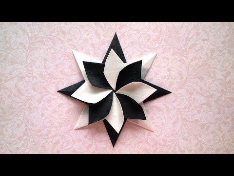 Sterne basteln zu Weihnachten: schöne Origami Ste…