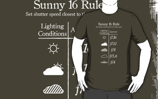 """""""Sunny f/16 Rule"""" T-Shirts 