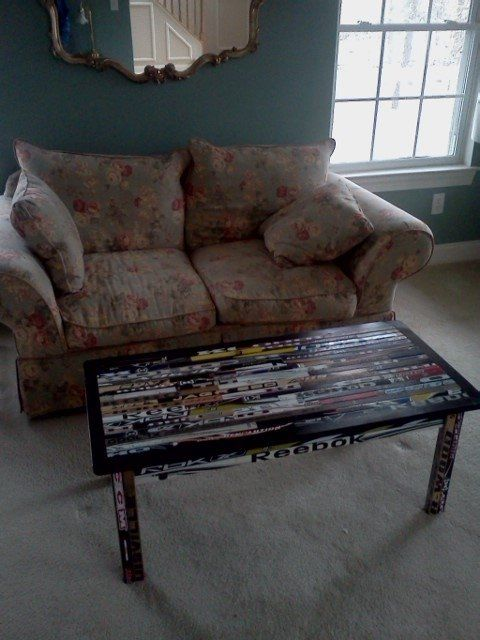 17 Best Images About Hockey Stick Furniture On Pinterest Furniture Baseball Bats And Tables