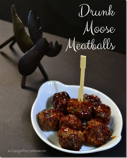 Drunk Moose Meatballs - the famous appetizer from Cosmopolitan Cornbread