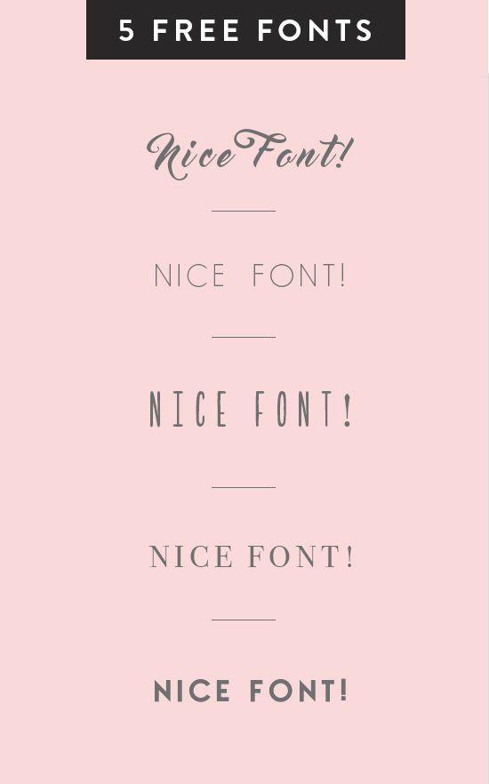5 free fonts | designlovefest