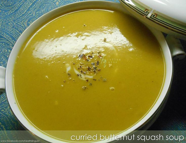 Curried Butternut Squash Soup  #Healthilinguist