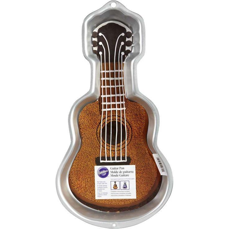 Guitar cake pan en 2020 gateau guitare guitare et cuisson