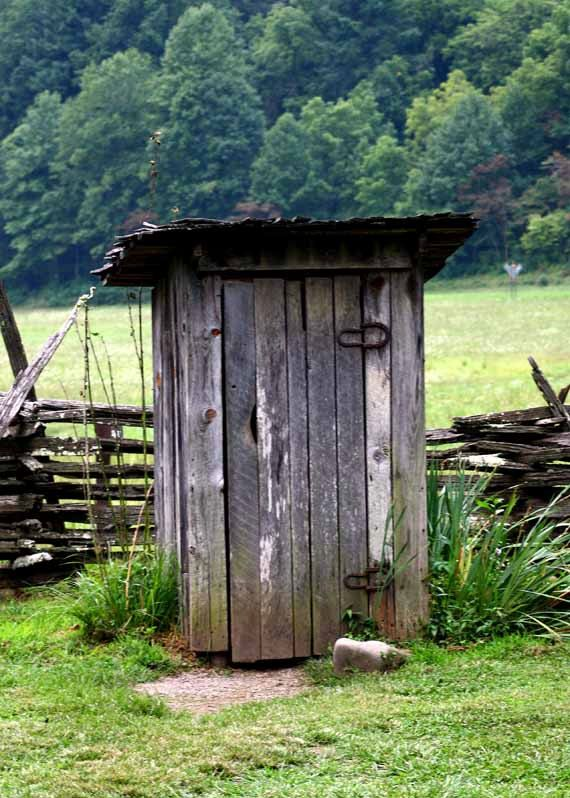 OutHouse...hated using it when visiting my Grandpa! Remember my Daddy building him a new one in our back yard & how much teasing I got from the other kids before he loaded it into the pickup & took to Grandpa :-)