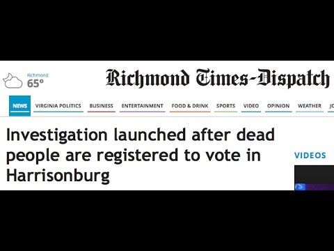 SR 1230 – Virginia College Student Caught Registering Dead Voters - YouTube