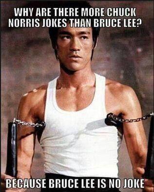 Because Bruce Lee is no joke (my only Chuck Norris joke). http://www.celebatheists.com/wiki/Bruce_Lee #atheists
