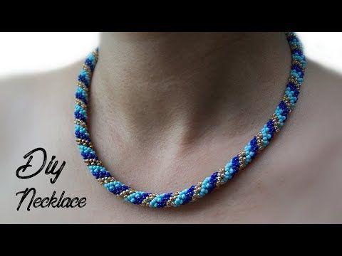 DIY Halskette. Anleitung für Perlenketten. DIY Geschenk – YouTube