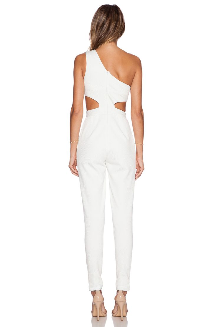 Hunter Bell Kelly Jumpsuit en White Dobby | REVOLVE