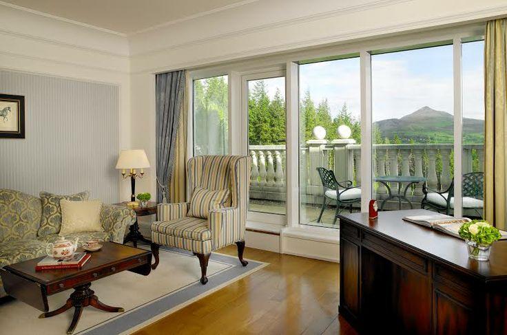 Mountain View Suite 6th floor #truebeauty #whataview #powerscourthotel #wicklowmountains
