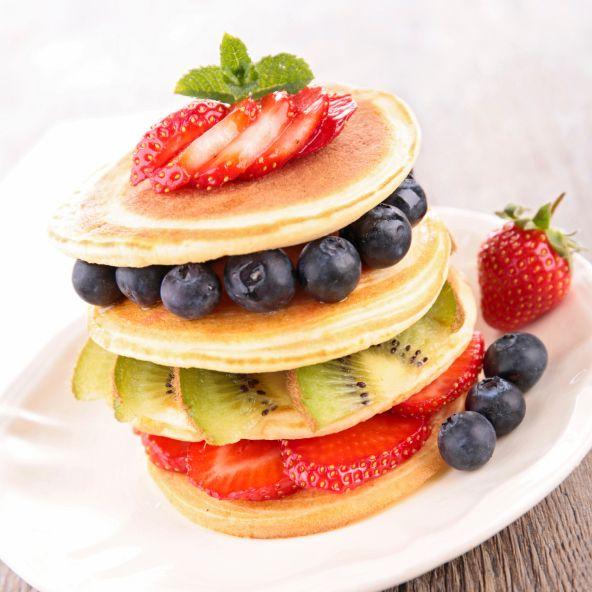 Amerikanska pannkakor med bär | MåBra - Nyttiga recept