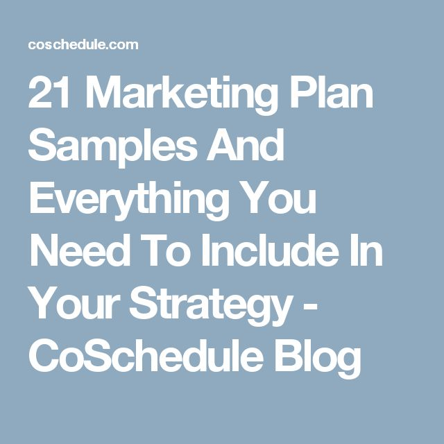 Top 25+ Best Marketing Plan Sample Ideas On Pinterest | Marketing