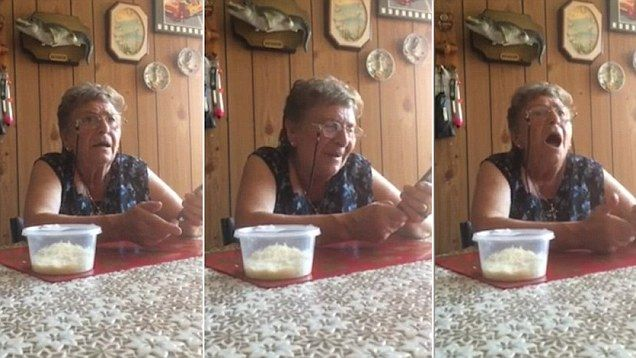 This video posted to Facebook shows Nonna becoming frustrated with her Iphone voice command Siri
