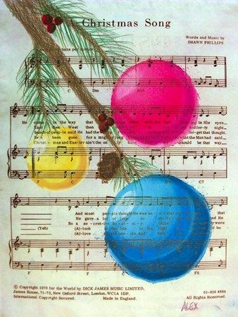Artsonia Art Museum :: Artwork by Alex1573 Create projects on printed sheet music that matches the theme (we three kings)