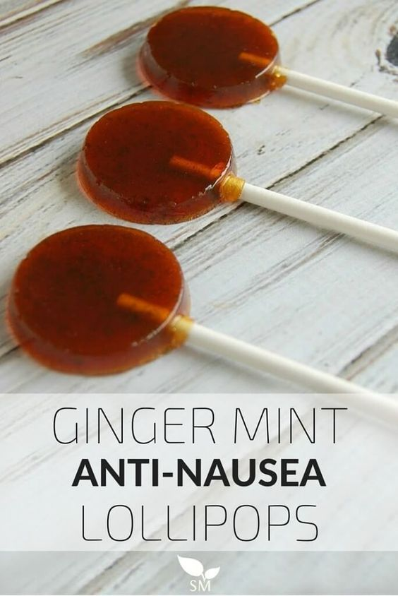 Ginger Mint Anti-Nausea Lollipops Recipe.  An effective natural nausea treatment for pregnants.