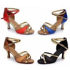 Women Girl lady's Ballroom Tango Latin Dance Dancing Shoes heeled Salsa 11Colors