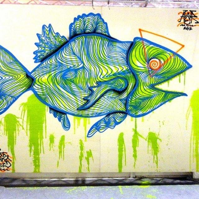 street art by AWER.  000 fish