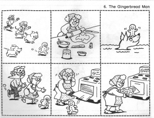 Gingerbread man story sequencing