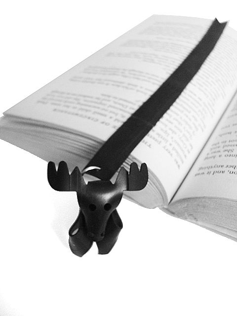HIRVI bookmark. Made out of recycled rubber from bycicle innertubes