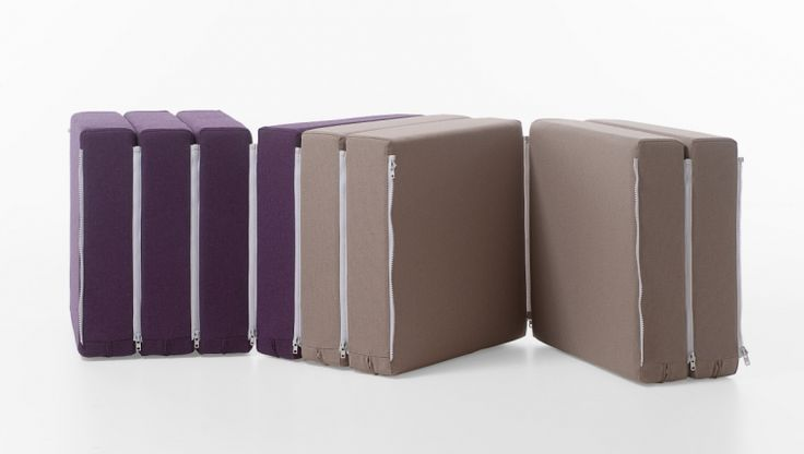 Zippiù / modular pouf / design Fabrizio Simonetti / Formabilio