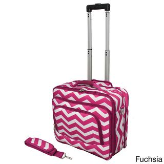 Sassy Chevron luggage = unbored!  World Traveler Chevron Collection Rolling Computer Bag Laptop Business Case  link to overstock site