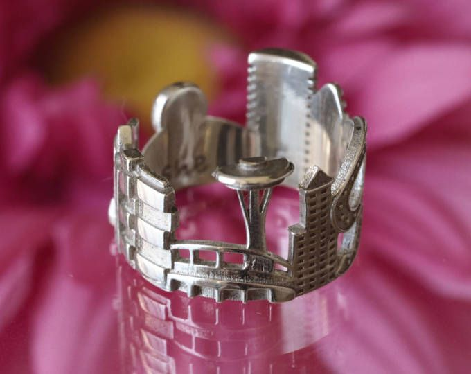 Seattle Cityscape - horizonte declaración anillo - regalo para ella - día de la madre regalo - regalo para la pareja - Shekhtwoman